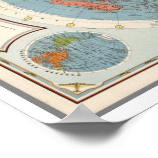 Póster Escuela americana de CBS del mapa del aire el |