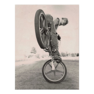 Póster Escuela vieja BMX del vintage