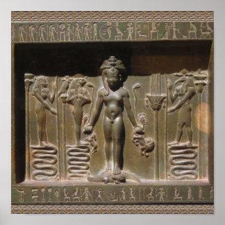 Póster Escultura egipcia de la estatua en el museo de