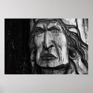 Póster Escultura tallada indio