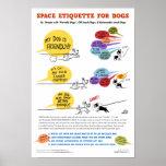 Póster Espacie la etiqueta para el poster de los perros -