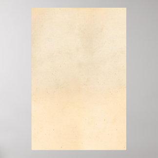 Póster Espacio en blanco antiguo de papel de la plantilla