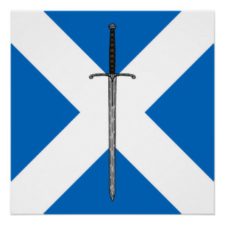 Póster Espada de Bruce en Saltire