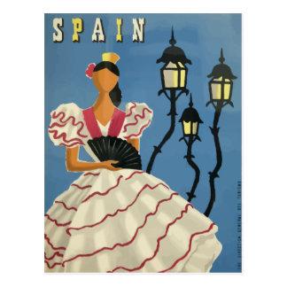 Poster España de la postal del viaje del vintage