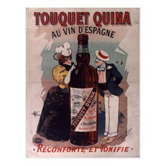 Poster español del anuncio del vintage: vino postal