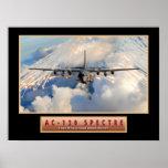 "Poster ""espectro"" 24x18 de los aviones militares d"