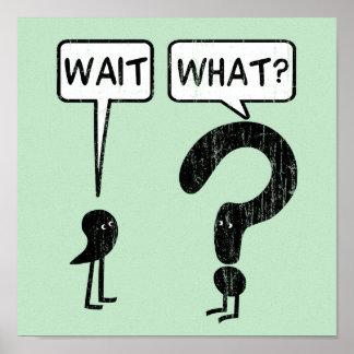 Póster ¿Espera, qué? Humor de la gramática