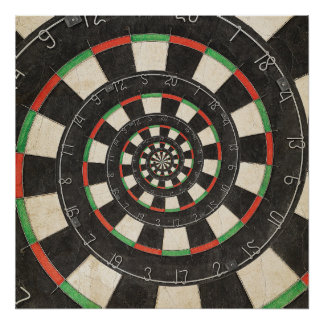 Poster espiral del efecto de Droste del tablero de