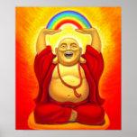 Poster espiritual de risa del arte de Buda