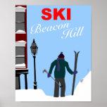 Póster Esquí Beacon Hill Boston