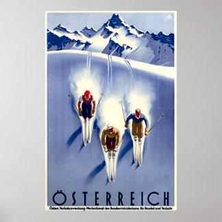 Póster Esquí de Österreich del vintage