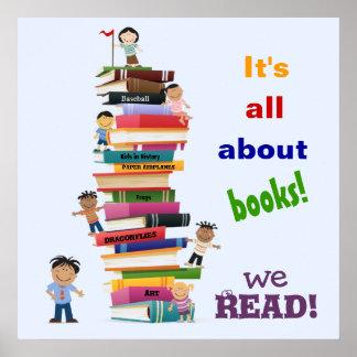 Póster Está todo sobre el poster de los libros