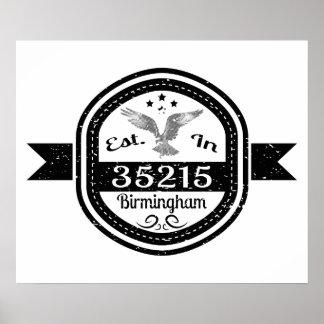 Póster Establecido en 35215 Birmingham
