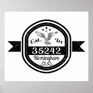 Póster Establecido en 35242 Birmingham