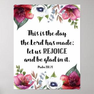 Póster Éste es el día que el señor había hecho las flores