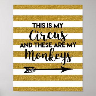 Póster Éste es mi poster del circo