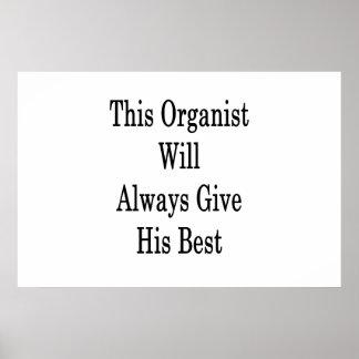 Póster Este organista dará siempre su mejor