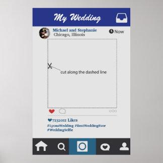 Póster Estilo de Instagram que casa el apoyo del marco de