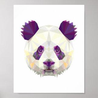 Póster Estilo nórdico geométrico del oso de panda