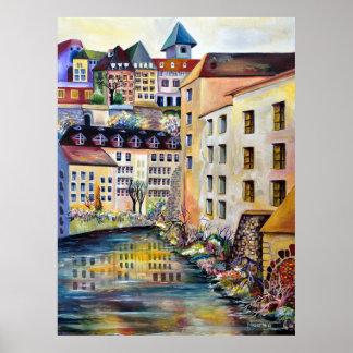 Póster Estocolmo, Gamla Stan, ciudad vieja