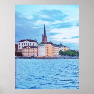 Póster Estocolmo, Suecia