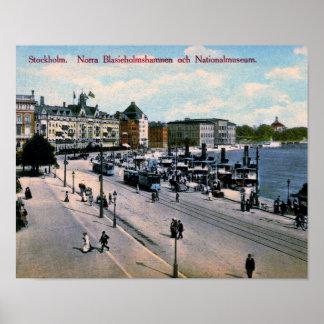 Póster Estocolmo, Suecia, visión, Museo Nacional, vintage