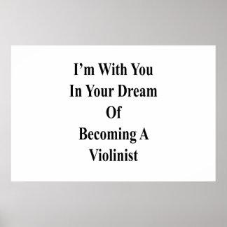Póster Estoy con usted en su sueño de hacer violinista