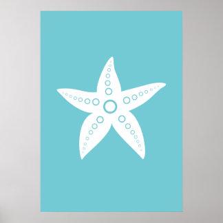 Póster Estrella de mar, poster de los peces de mar