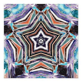 Póster Estrella espectral abstracta