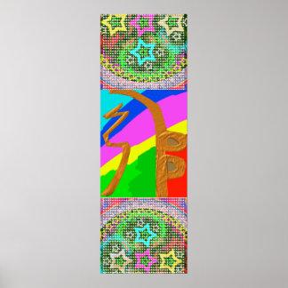 Póster ESTRELLAS de la LLAVE n del HENO del símbolo SHAY
