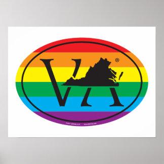Póster Euro del orgullo del estado de LGBT: VA Virginia