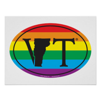 Póster Euro del orgullo del estado de LGBT: VT Vermont
