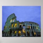 Póster Europa, Italia, Roma. Opinión de la tarde del