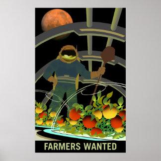 Póster Exploradores de Marte - los granjeros quisieron el