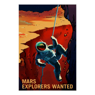 Póster Exploradores queridos en el viaje a Marte, viaje