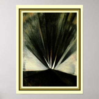 """Póster """"Explosión"""" 1916 de Christopher Nevinson 12 x 16"""