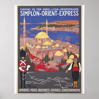 Póster Expreso de Oriente a Constantinopla