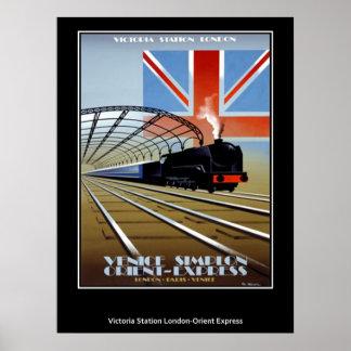 Póster Expreso de Oriente del poster del viaje del vintag