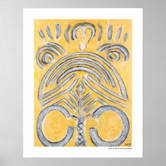 Póster Extracto amarillo - los regalos de la pintura del