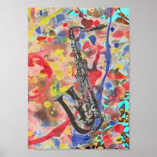 Póster Extracto del saxofón