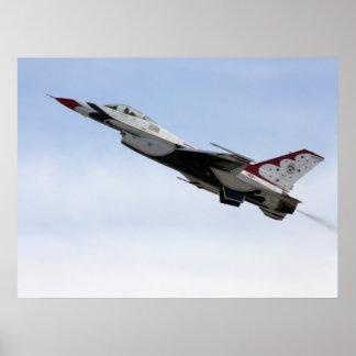 Póster F-16 Thunderbird en vuelo