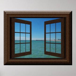 Póster Falsa escena del océano del Aquamarine del poster