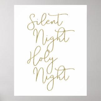 Póster Falsa noche silenciosa de la tipografía el | de la