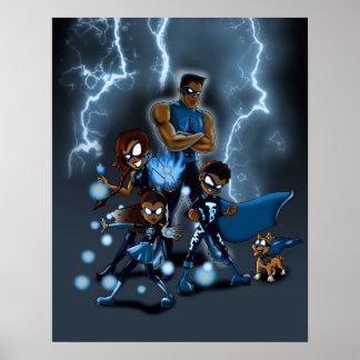 Póster Familia de superhéroes