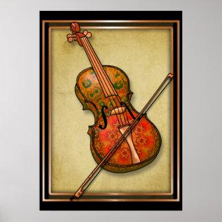 Póster Fantasía del violín