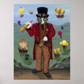 Póster Fantasía gótica AR del retrato del Victorian del