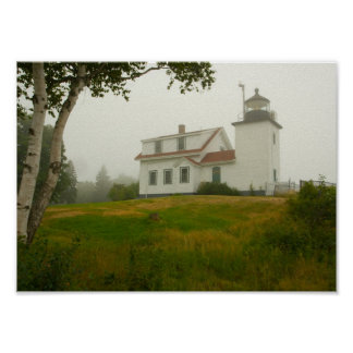 Póster Faro del punto del fuerte, Maine