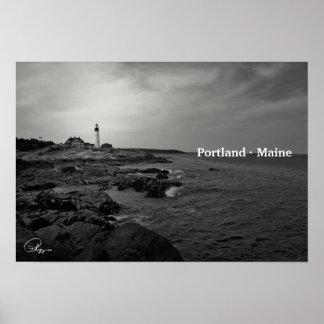 Póster Faro principal de Portland