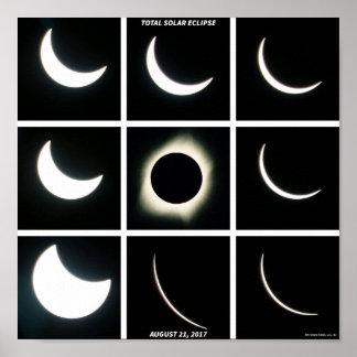 Póster Fases del eclipse del 21 de agosto de 2017