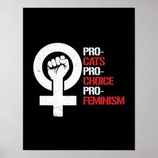 Póster Favorable-Feminismo proabortista de los